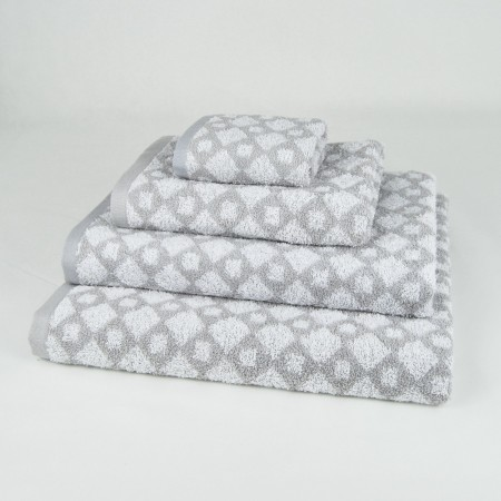 Grey Bath Towel design Geo made from 100% cotton