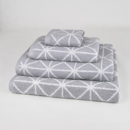Grey Bath Towel design Anabella made from 100% cotton