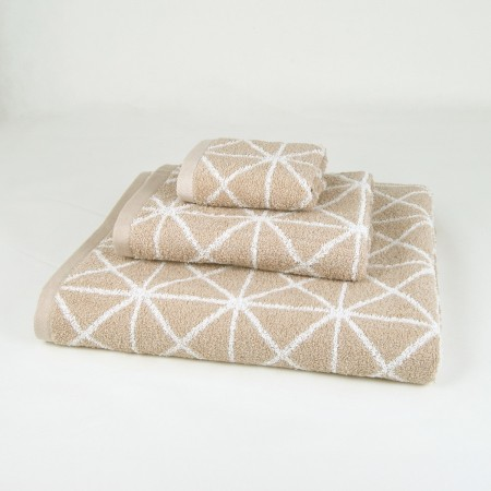 Beige Bath Towel design Anabella made from 100% cotton