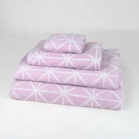 Lilac Bath Towel design Anabella made from 100% cotton