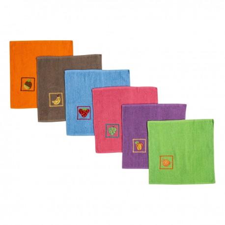 Paños de cocina bordados de colores de rizo 100% algodón