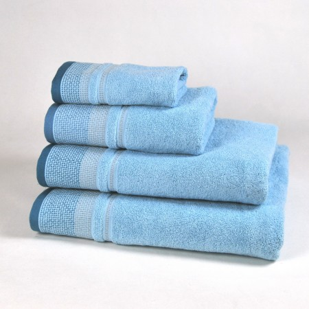 Blue Bath Towel design Diamond made from 100% cotton