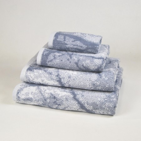 Grey Bath Towel design Marble made from 100% cotton