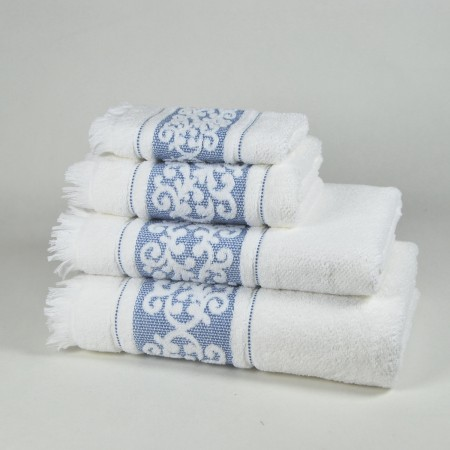 Blue Bath Towel design Antique made from 100% cotton
