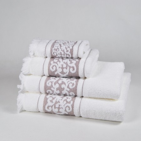 Beige Bath Towel design Antique made from 100% cotton