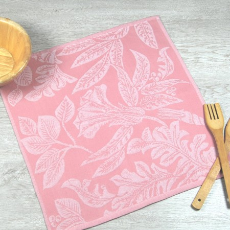 Coral kitchen towel made from 100% cotton