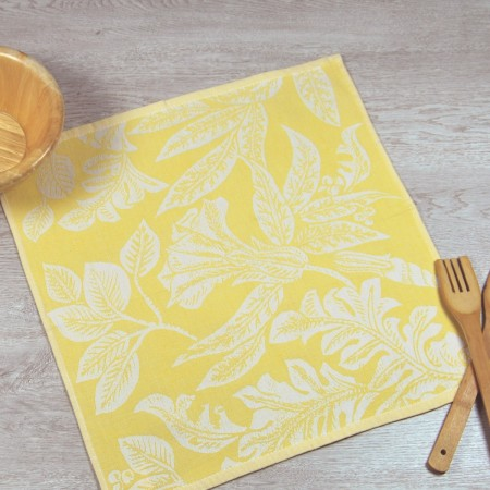 Mustard kitchen towel made from 100% cotton