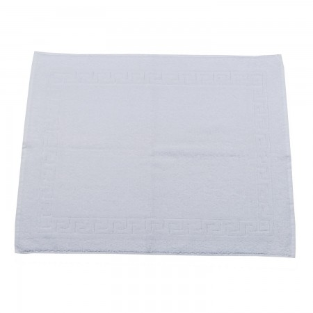 White bath mat for hotels made from 100% cotton