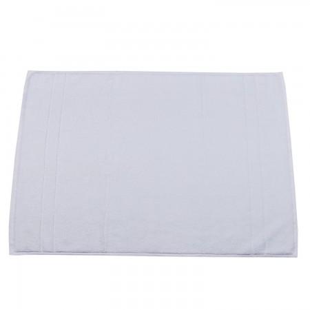 Alfombra de baño blanca lisa para hostelería de Algodón 100%