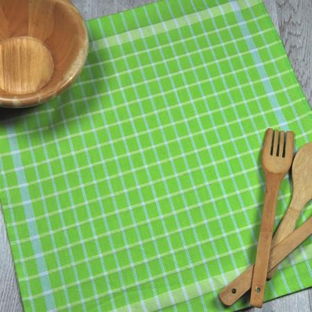 Paño de cocina verde pistacho de tela de algodón 100%.