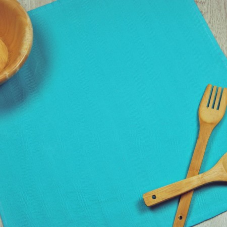 Blue turquoise kitchen towel made from 100% cotton