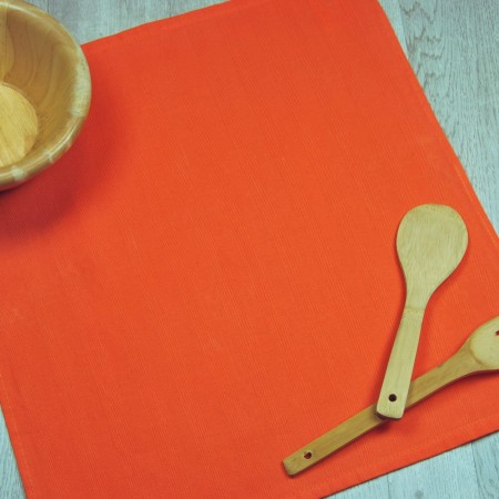 Orange kitchen towel made from 100% cotton