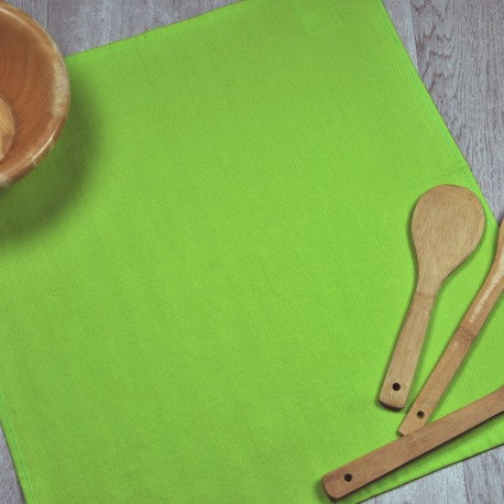 Torchon de cuisine vert pistache en tissu 100% coton.