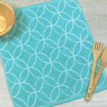 Blue terry kitchen towel from 100% cotton