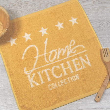 Mustard terry kitchen towel from 100% cotton