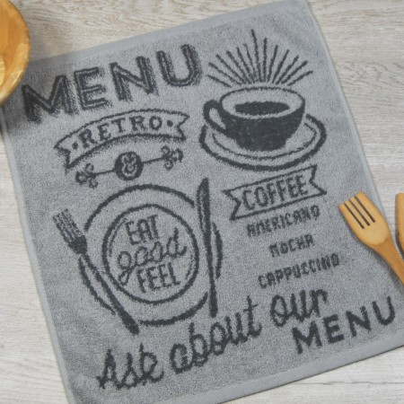 Grey terry kitchen towel from 100% cotton