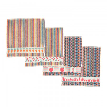 Set 4 kitchen towels from 100% cotton