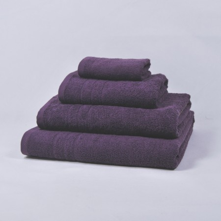 Serviette de bain aubergine 100 % cotton