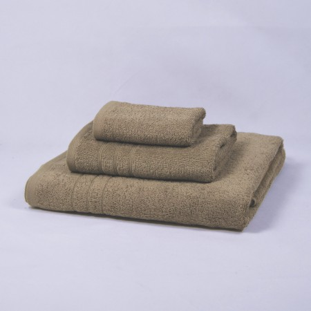 Beige towels set made from 100% cotton