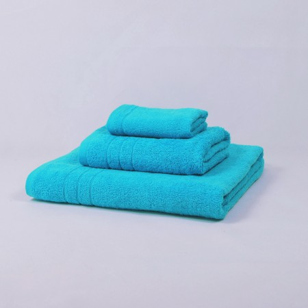 Turquoise blue towels set made from 100% cotton