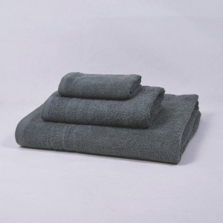 Dark grey towels set made from 100% cotton