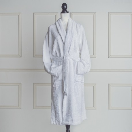 White Bathrobe made from 100% cotton