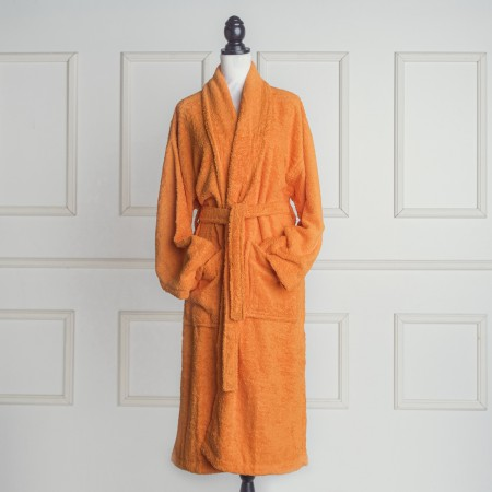 Orange Bathrobe made from 100% cotton