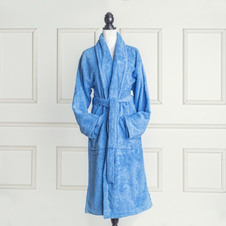 Sea Blue Bathrobe made from 100% cotton