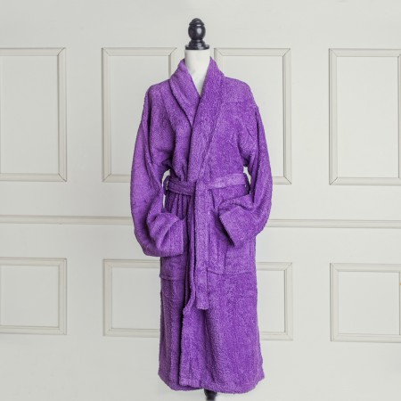 Purple Bathrobe made from 100% cotton