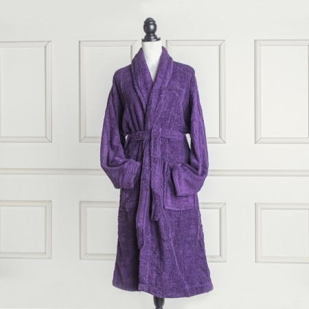 Aubergine Bathrobe made from 100% cotton