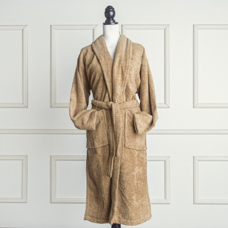 Beige Bathrobe made from 100% cotton