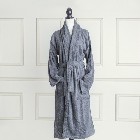 Dark Grey Bathrobe made from 100% cotton