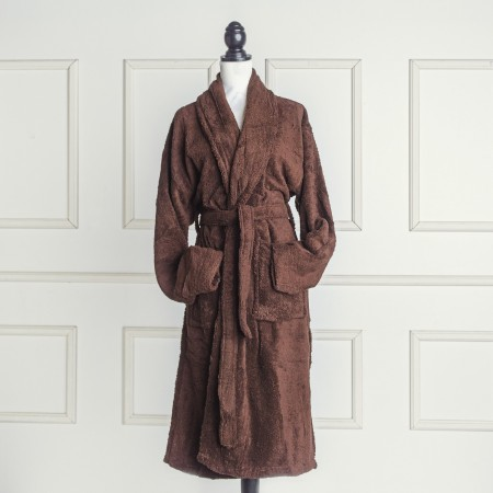 Chocolate Bathrobe made from 100% cotton