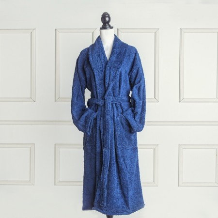 Blue Navy Bathrobe made from 100% cotton