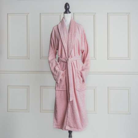 Pink Bathrobe made from 100% cotton