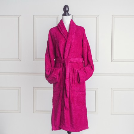 Fuchsia Bathrobe made from 100% cotton