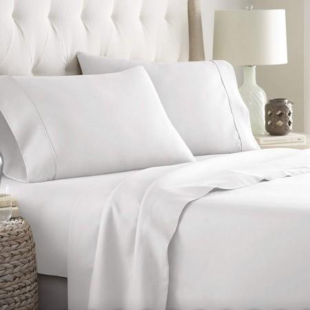 Juego de sábanas blanco 50/50 cama 150 cm