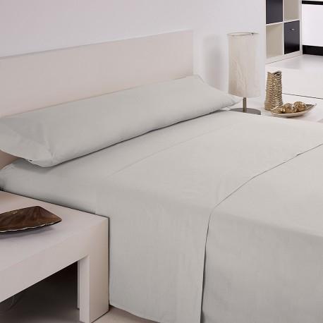 Juego de sábanas blanco 50/50 cama 135 cm
