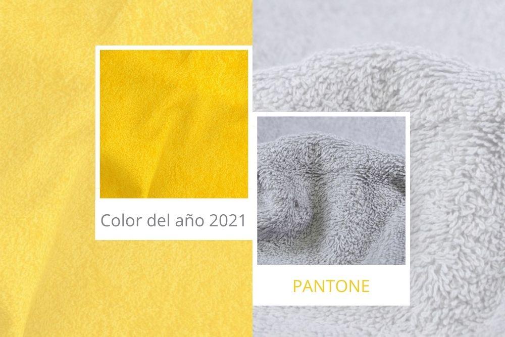 Toallas colores Pantone 2021